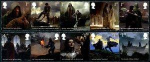 HERRICKSTAMP NEW ISSUES GREAT BRITAIN Legend of King Arthur Strips