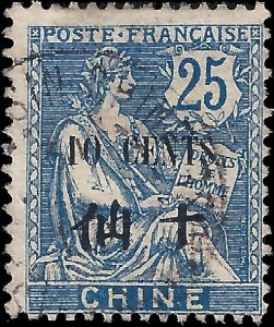 France-offices in China 1907 YT 79 UH VG-F