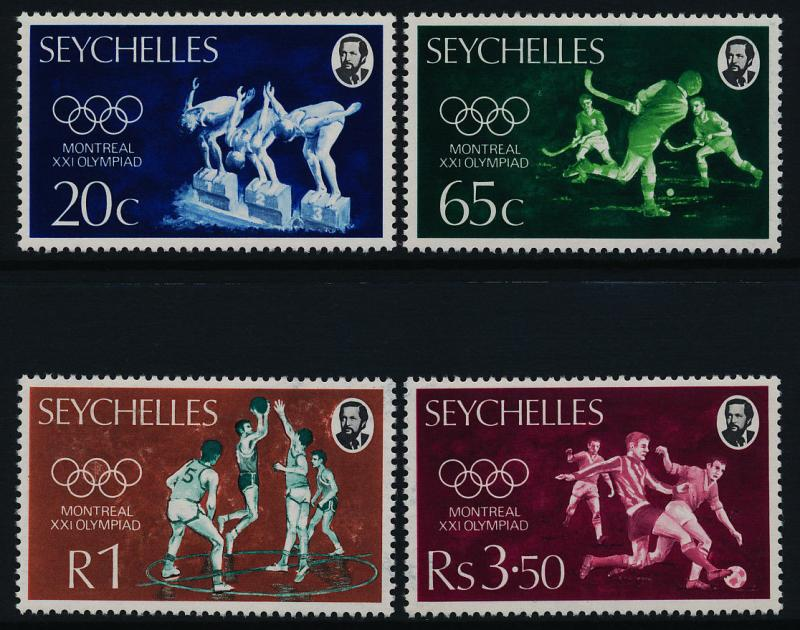 Seychelles 353-6 MNH Olympic Games, Swimming, Hockey, Basketball, Soccer