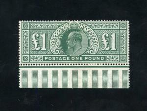 GREAT BRITAIN EDWARD  VII DE LA RUE  SCOTT#142  SG#266 ORIGINAL GUM MINT HINGED