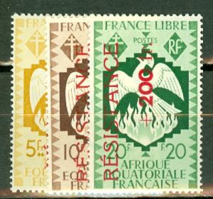 French Equatorial Africa B24-35 mint CV $480, scan shows only a few