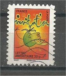 FRANCE, 2009, used 20 Gr. - Gram, Oiseau stylisé, Mi4721