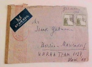 PALESTINE   TO UNRAA TEAM 1027 B/S BERLIN 1947
