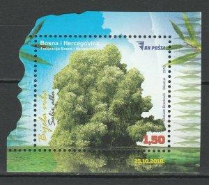 Bosnia and Herzegovina 2018 Trees MNH Block