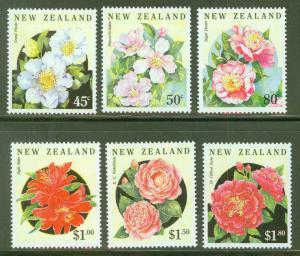 New Zealand Scott 1110-15 Camelias Flower set MH* CV$9