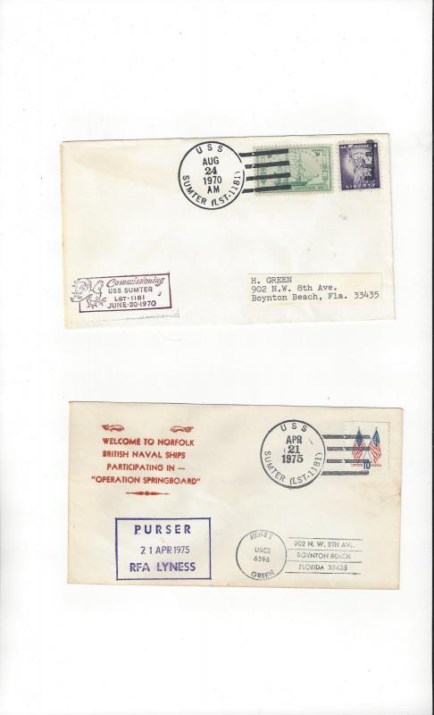 US Navy Covers USS Sumter LST 1181