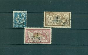 France Offices in Turkey - Sc# 34 - 6. 1900-03 3 Used. $4.35.