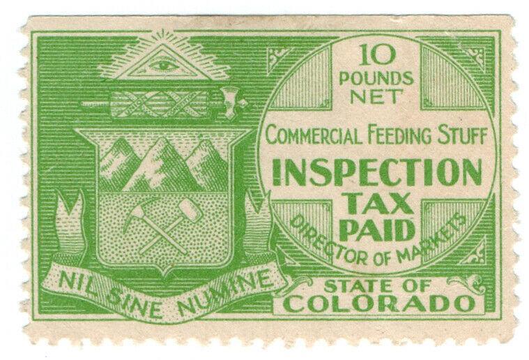 (I.B) US Revenue : Commercial Feeding Stuff Inspection Tax (Colorado)