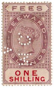 (I.B) Leeward Islands Revenue : Magistrates Court 1/- (Antigua District A)