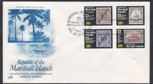 Marshall Islands # 50-53, Stamp on Stamp, 1st Day Cover