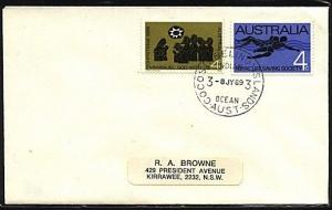 COCOS IS 1969 cover Australia franking - ..................................19023