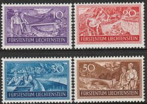 Liechtenstein #132-5  MNH CV $21.00 (S514L)