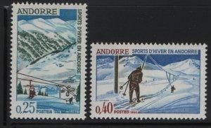 ANDORRA, 169-170, MNH, 1966, SKI LIFT