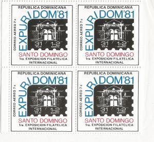 DOMINICAN REPUBLIC C337 MNH BLOCK OF 4 [D5]