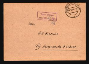 Germany 1946 TAXE PERCUE Stampless Card - Z14757