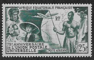 FRENCH EQUATORIAL AFRICA SC# C34  FVF/MLH    1949