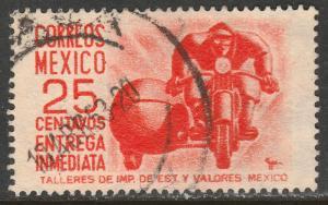 MEXICO E13, 25c 1950 Definitive wmk 279 Used. F-VF. (952)
