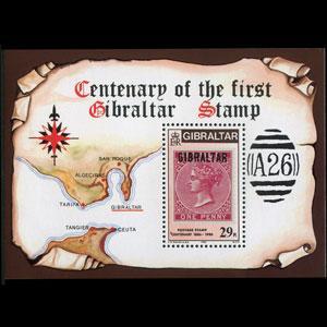 GIBRALTAR 1986 - Scott# 490 S/S Stamp Cent. NH