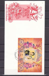 Central Africa, Scott cat. 649. Diana`s Royal Wedding. First day cover. ^