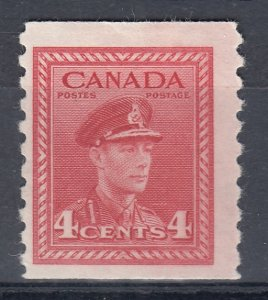 Canada MINT OG Scott #281 4 cent dark carmine GKVI War COIL HCV