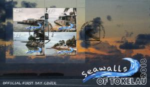 Tokelau 2018 FDC Seawalls 4v M/S Cover Tourism Landscapes Palm Trees Stamps