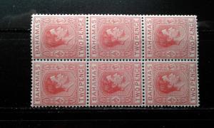 Bahamas #101 MNH block of 6 e191.3057