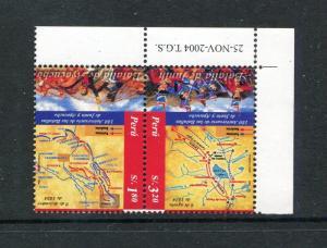 Peru 1460, MNH, Battles 180 Ann, Map 2004. x29652