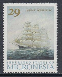 Micronesia 168a Sailing Ship MNH VF