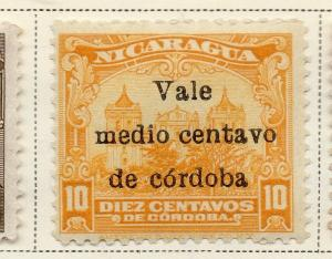 Nicaragua 1918-21 Early Issue Fine Mint Hinged 1/2c. Surcharged 323634