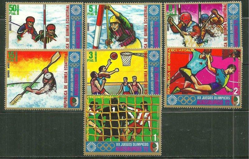 Equatorial Guinea MNH Augsburgo Olympics 1972