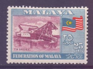 Malaya Federation Scott 82 - SG3, 1957 25c MH*