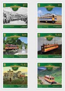 Isle of Man 2020 Snaefell Mountain Railway 125th Anniversary 6v MNH