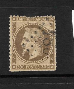 FRANCE 1863-70  30c DEEP BROWN  NAPOLEAN   FU SG 117