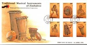 Zimbabwe, Worldwide First Day Cover, Music