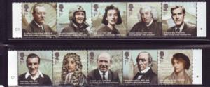 Great Britain Sc 2692-2701 2009 Famous People stamp set  mint NH
