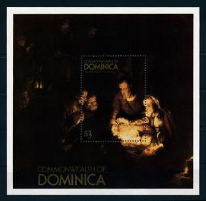 [75345] Dominica 1980 Painting Rembrandt The Holy Family Souvenir Sheet MNH