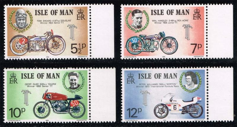 Isle of Man #66-69 Motorcycle Races Set of 4; MNH (1.25)