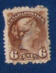 Canada Sc #39 Used  Perf Fault Good F- CV $22.00