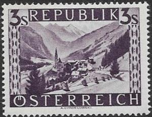 Austria 1945 Heiligenblut, Carintha SC# 514 Mint Hinged Fine