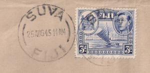 WORLD WAR II HISTORY FIJI #122 Inter Island Mail 2 the Solomons 1945 WAR'S END