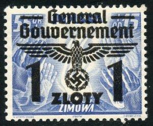 Poland-German Occupation Scott N50 Unused VFNHOG - SCV $4.00