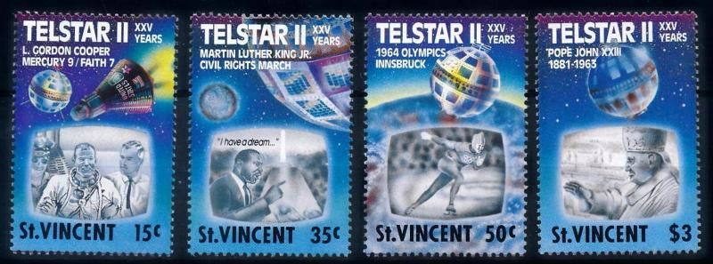 [66159] St. Vincent 1989 Space Travel Weltraum Pope Olympic Games  MNH