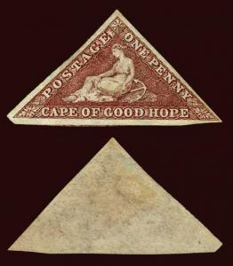 CAPE OF GOOD HOPE Scott #12b (SG 18b) 1863 used with RPS and APS certificates