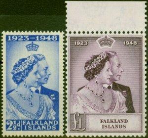 Falkland Islands 1948 RSW Set of 2 SG166-167 Very Fine UMM