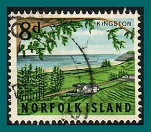 Norfolk Island 1964 Views, 8d used  #51,SG52