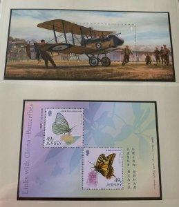 JE7) Jersey 2017 WWI Part 4 M/S & Butterflies M/S MUH
