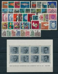 West Germany Bundespost 1964 Complete Year Set  MNH
