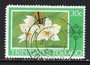 TRINIDAD & TOBAGO 285 VFU FLOWERS Z2051-10
