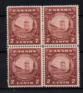 Canada 1934 2c New Brunswick block x 4 MNH & LHM SG334 WS22393