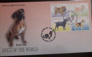 O) 2010 PHILIPPINES, DOG OF THE WORLD - CHOW CHOW - BULLT - RETRIEVER -